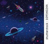 cosmic seamless pattern | Shutterstock .eps vector #109540244