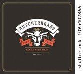 butcher shop label template... | Shutterstock .eps vector #1095402866