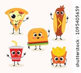 cute fast food character vector ... | Shutterstock .eps vector #1095405659