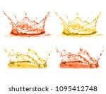 vector 3d realistic set of... | Shutterstock .eps vector #1095412748