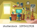 vector cartoon illustration of... | Shutterstock .eps vector #1095412928