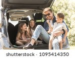 portrait of father and three... | Shutterstock . vector #1095414350