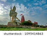 giant sculpture of shiva... | Shutterstock . vector #1095414863
