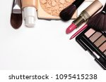 day makeup set. beauty products ... | Shutterstock . vector #1095415238