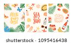 collection of summer cards ... | Shutterstock .eps vector #1095416438