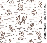 creative seamless pattern with... | Shutterstock .eps vector #1095416453