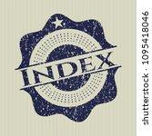 blue index grunge seal | Shutterstock .eps vector #1095418046