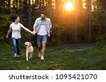 young happy couple having fun... | Shutterstock . vector #1095421070