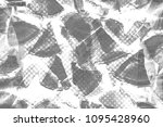 grunge black and white pattern. ... | Shutterstock . vector #1095428960