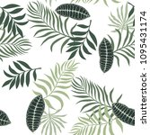 tropical background with palm...   Shutterstock .eps vector #1095431174