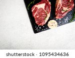 raw beef steak and ingredients... | Shutterstock . vector #1095434636