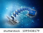 3d rendering computer folder... | Shutterstock . vector #1095438179