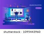 modern gradient flat line... | Shutterstock .eps vector #1095443960