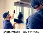furniture delivery service... | Shutterstock . vector #1095444059