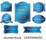 set of assorted blue labels...   Shutterstock .eps vector #1095444650
