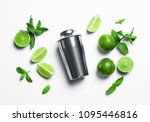 Flat Lay Composition With Lime...