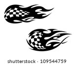 racing flag with flames as a... | Shutterstock .eps vector #109544759