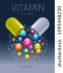 medical vitamin  mineral... | Shutterstock .eps vector #1095448250