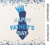 happy fathers day greeting card ... | Shutterstock .eps vector #1095448568