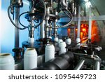 automatic filling line for... | Shutterstock . vector #1095449723