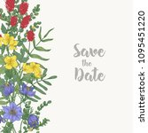 floral square save the date... | Shutterstock .eps vector #1095451220