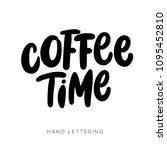 coffee time. creative hand... | Shutterstock .eps vector #1095452810