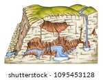 types of continental landform ... | Shutterstock . vector #1095453128