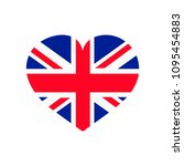 uk flag heart | Shutterstock .eps vector #1095454883