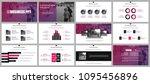 business presentation slides...   Shutterstock .eps vector #1095456896