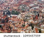 Aerial View On Prague City ...