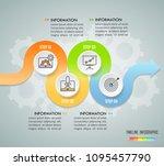 design infographic template 4... | Shutterstock .eps vector #1095457790
