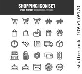 a set of icons related to... | Shutterstock .eps vector #1095459470