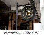signage outside a restaurant... | Shutterstock . vector #1095462923