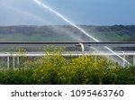 Small photo of Sprinklers on racecourse with a race track cover - polytrack in Pyatigorsk.