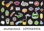 cute colorful modern patch set. ... | Shutterstock .eps vector #1095464456