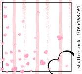 wedding glitter confetti with... | Shutterstock .eps vector #1095468794