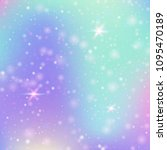 fairy background with rainbow... | Shutterstock .eps vector #1095470189
