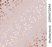 rose gold. elegant decorative... | Shutterstock .eps vector #1095472094