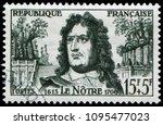 paris  france   june 13  1959 ... | Shutterstock . vector #1095477023