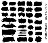 brush strokes text boxes.... | Shutterstock .eps vector #1095478979