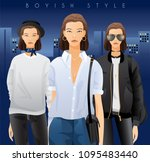 body template with outfits and...   Shutterstock .eps vector #1095483440