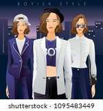 body template with outfits and...   Shutterstock .eps vector #1095483449