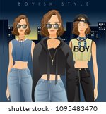 body template with outfits and...   Shutterstock .eps vector #1095483470