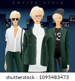 body template with outfits and...   Shutterstock .eps vector #1095483473
