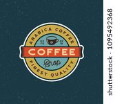 modern vintage coffee shop... | Shutterstock .eps vector #1095492368