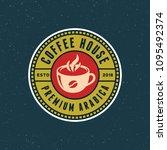 modern vintage coffee shop... | Shutterstock .eps vector #1095492374