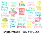 summer lettering design set  ... | Shutterstock .eps vector #1095492656