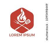 barbecue logo design. fresh... | Shutterstock .eps vector #1095498449