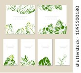 vector template label with hand ... | Shutterstock .eps vector #1095500180