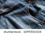 blue background  denim jeans... | Shutterstock . vector #1095501524